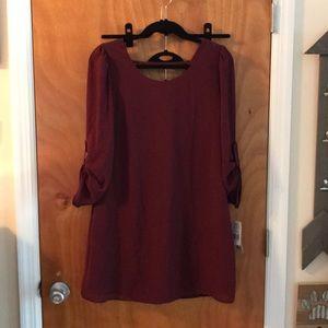 Burgundy Tunic Dress